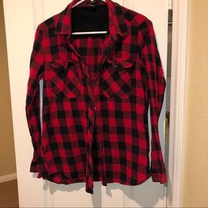 🥌 Forever 21 Red & Black Flannel